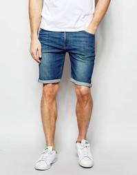 Джинсовые шорты скинни ASOS - Умеренный синий