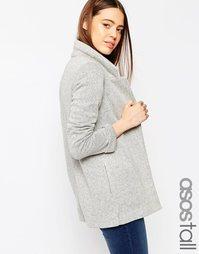 Длинный фактурный пиджак ASOS TALL - Серый