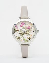Часы с цветочным принтом на циферблате ASOS - Серый