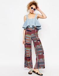 Широкие брюки с завышенной талией и принтом ASOS AFRICA x Chichia