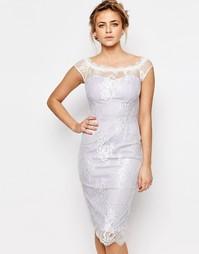 Платье-футляр с кружевным верхним слоем Paper Dolls