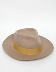 Мягкая фетровая шляпа Brixton Lopez - Бежевый