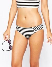 Плавки бикини в полоску Monki - Off white stripe