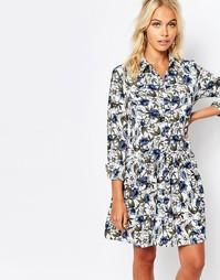 Платье-рубашка с цветочным принтом Fashion Union - Мульти