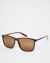 Квадратные солнцезащитные очки Jack & Jones - Коричневый