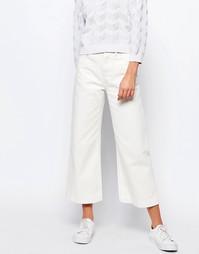 Укороченные джинсы с широкими штанинами Lost Ink - Кремовый