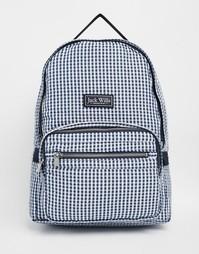 Темно-синий классический рюкзак в клеточку Jack Wills