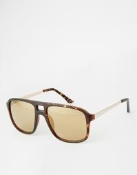 Солнцезащитные очки в матовой черепаховой оправе ASOS Navigator