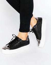 Кроссовки на шнуровке ASOS DEFINITELY - Черный