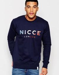 Свитшот с круглым вырезом и логотипом Nicce London - Темно-синий