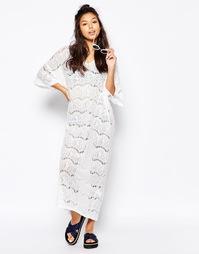 Кружевное платье-туника Monki - Белый