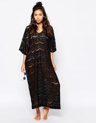 Кружевное платье-туника Monki - Черный