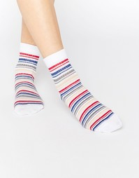 Носки в разноцветную полоску ASOS - Белый