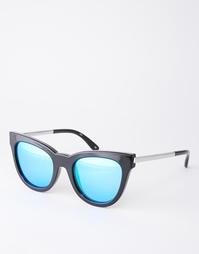 Зерркальные солнцезащитные очки кошачий глаз Le Specs Exclusive Le Deb