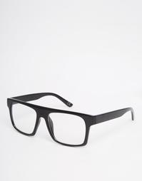 Очки в черной оправе с плоским верхом и прозрачными стеклами АSOS Asos