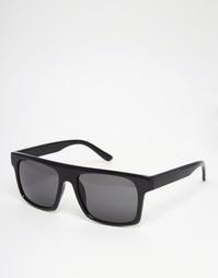 Черные солнцезащитные очки с плоским верхом ASOS - Черный