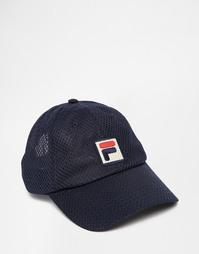 Регулируемая по размеру винтажная кепка Fila - Синий