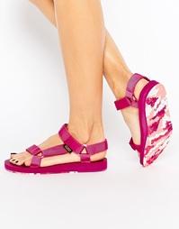 Розовые сандалии Teva Original Universal - Фуксиево-красный