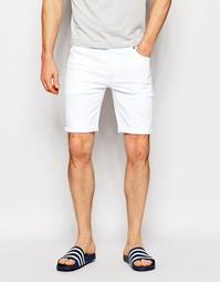 Белые облегающие джинсовые шорты ASOS - Белый