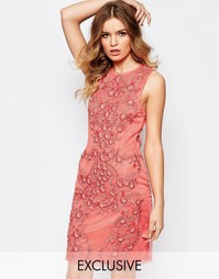 Декорированное платье мини в стиле барокко A Star Is Born - Коралловый