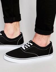 Черные кеды со шнуровкой ASOS - Черный