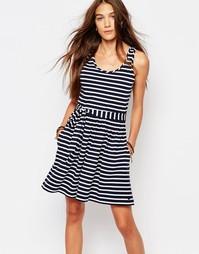 Трикотажное приталенное платье в полоску со свободной юбкой Jack Wills