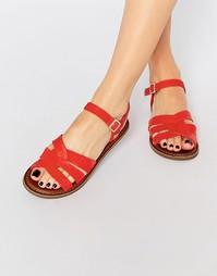 Красные кожаные сандалии TOMS Zoe - Красный