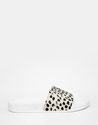 Сандалии с гепардовым принтом Adidas Originals - Бежевый