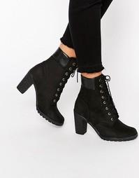 Черные ботинки на каблуке высотой 6 дюймов Timberland Glancy - Черный