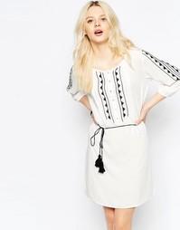 Платье с принтом в стиле бохо-фолк b.Young - Бежевый