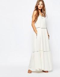 Платье макси с вырезом Maison Scotch - Белый