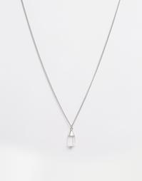Длинное ожерелье с кристаллом Pieces Trevani - Серебряный