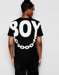 Футболка с принтом на спине Boy London - Черный