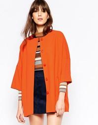 Оранжевое пальто-кимоно Helene Berman - Оранжевый