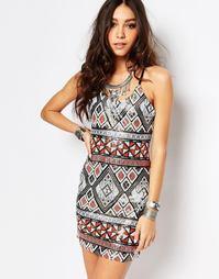 Платье мини с пайетками Wyldr - Мульти