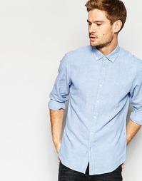 Льняная рубашка Esprit - Светло-голубой