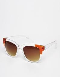 Квадратные солнцезащитные очки с отделкой ASOS - Прозрачный