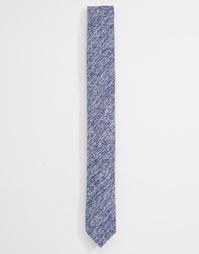 Трикотажный узкий галстук синего цвета ASOS - Синий