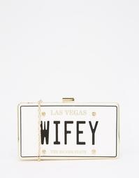 Оригинальный клатч с текстовым принтом Wifey ALDO