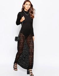 Кружевная юбка макси в богемном стиле Motel - Черный