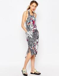 Цельнокройное платье с халтером и принтом ASOS AFRICA x Chichia