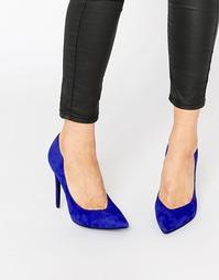 Синие туфли-лодочки из искусственной замши с острым носом Kendall & Ky