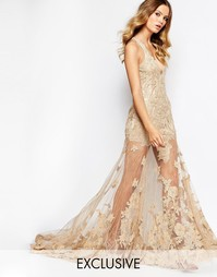 Платье макси с декоративной отделкой A Star Is Born - Темно-бежевый