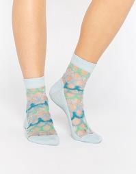 Полупрозрачные носки с эффектом чешуек ASOS - Мульти