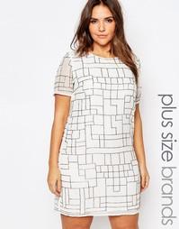 Цельнокройное платье с пайетками Truly You - Белый