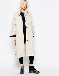 Пальто с высоким воротом Monki - Серый