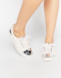 Кроссовки с блестящим носком Lost Ink Suri - Мульти