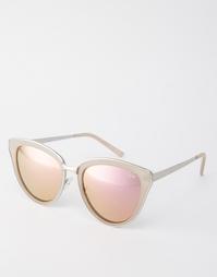 Солнцезащитные очки кошачий глаз с розовыми стеклами Quay Australia Ev