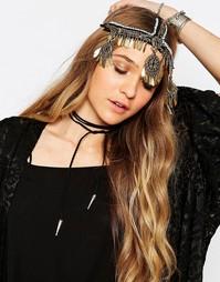 Повязка на голову с металлической подвеской Reclaimed Vintage - Мульти