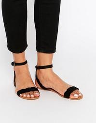Черные сандалии с фигурными ремешками Faith Jem - Черный
